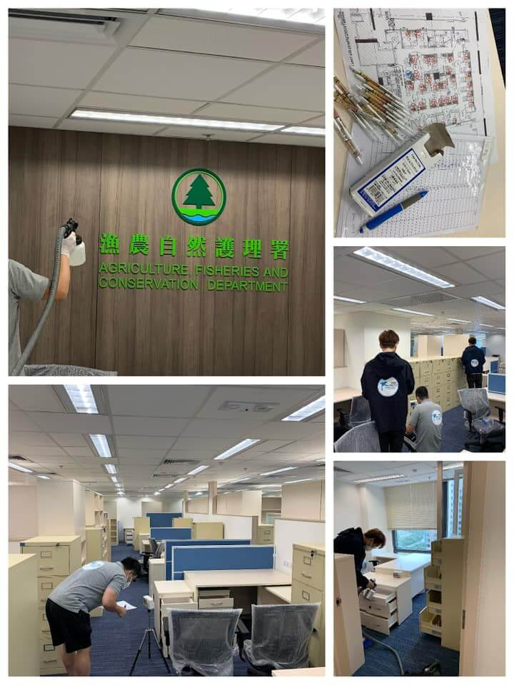 荃灣漁農處 辦公室去甲醛工程案例