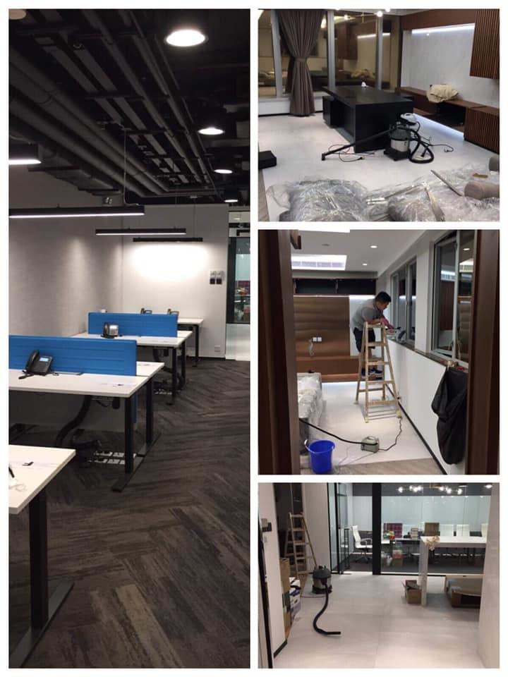 灣仔華懋世紀廣場 辦公室裝修後清潔
